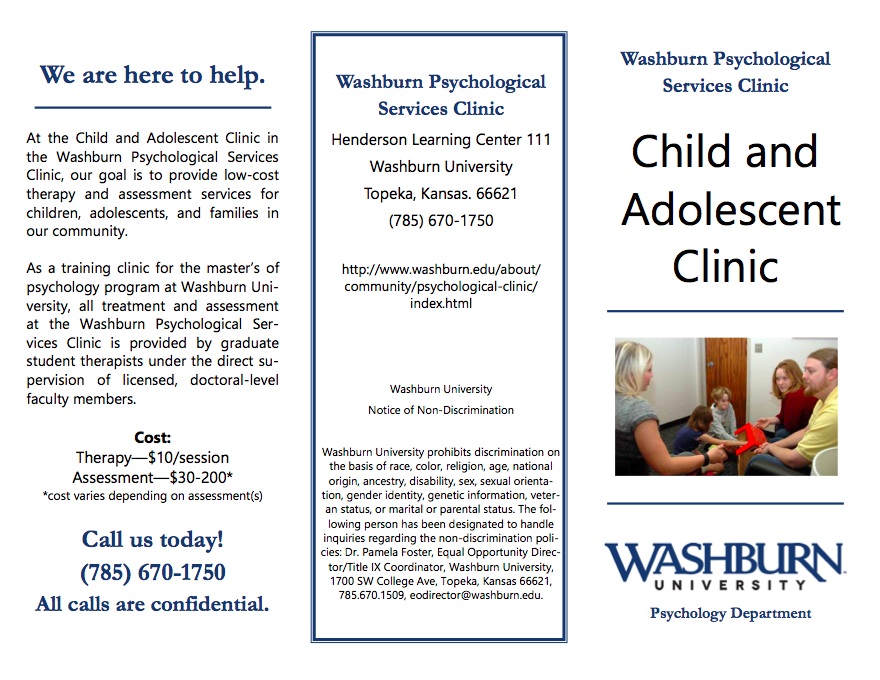 Child and Adolescent Clinic Brochure - Outside