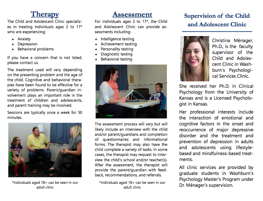 Child and Adolescent Clinic Brochure - Inside
