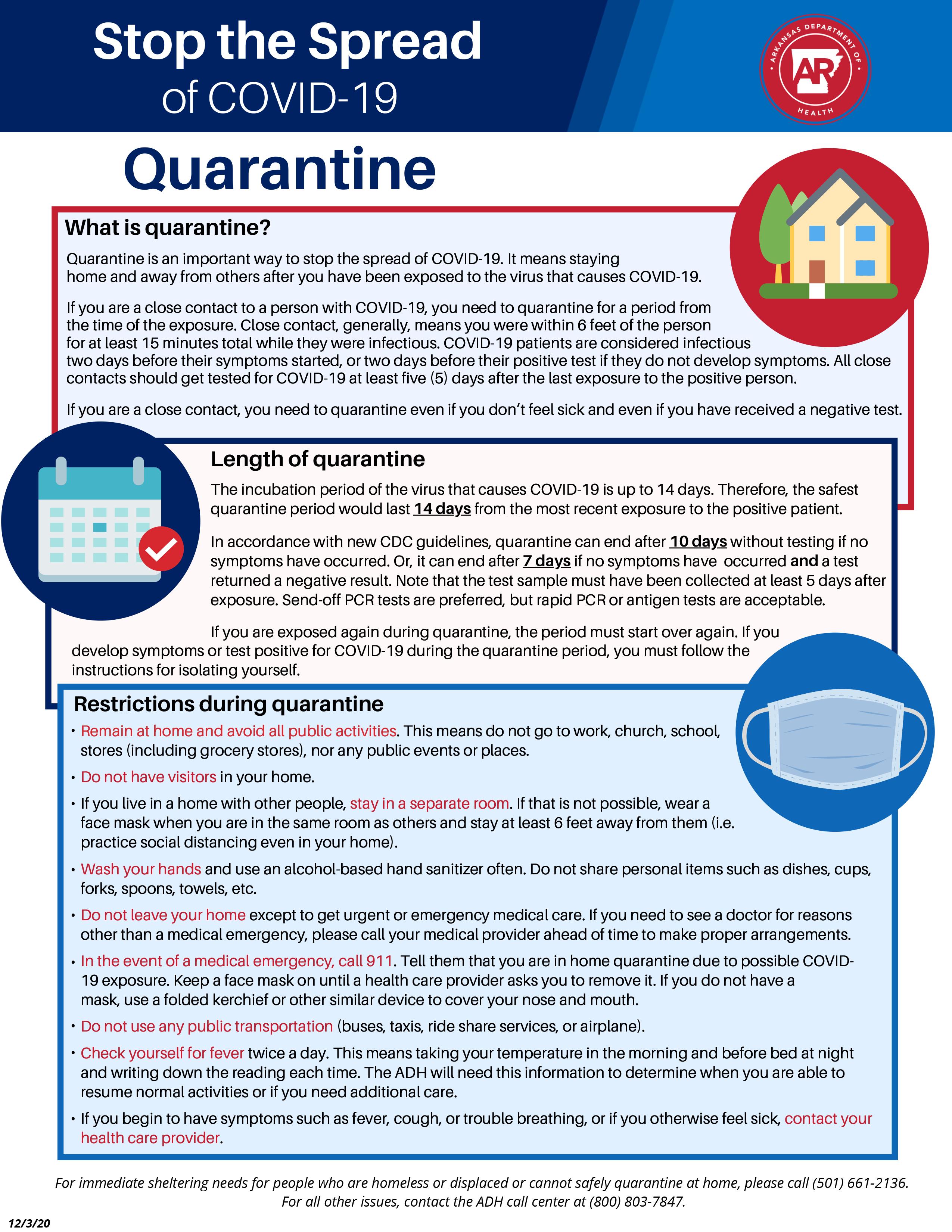 Quartine Info