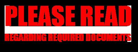 Regarding Required Documents