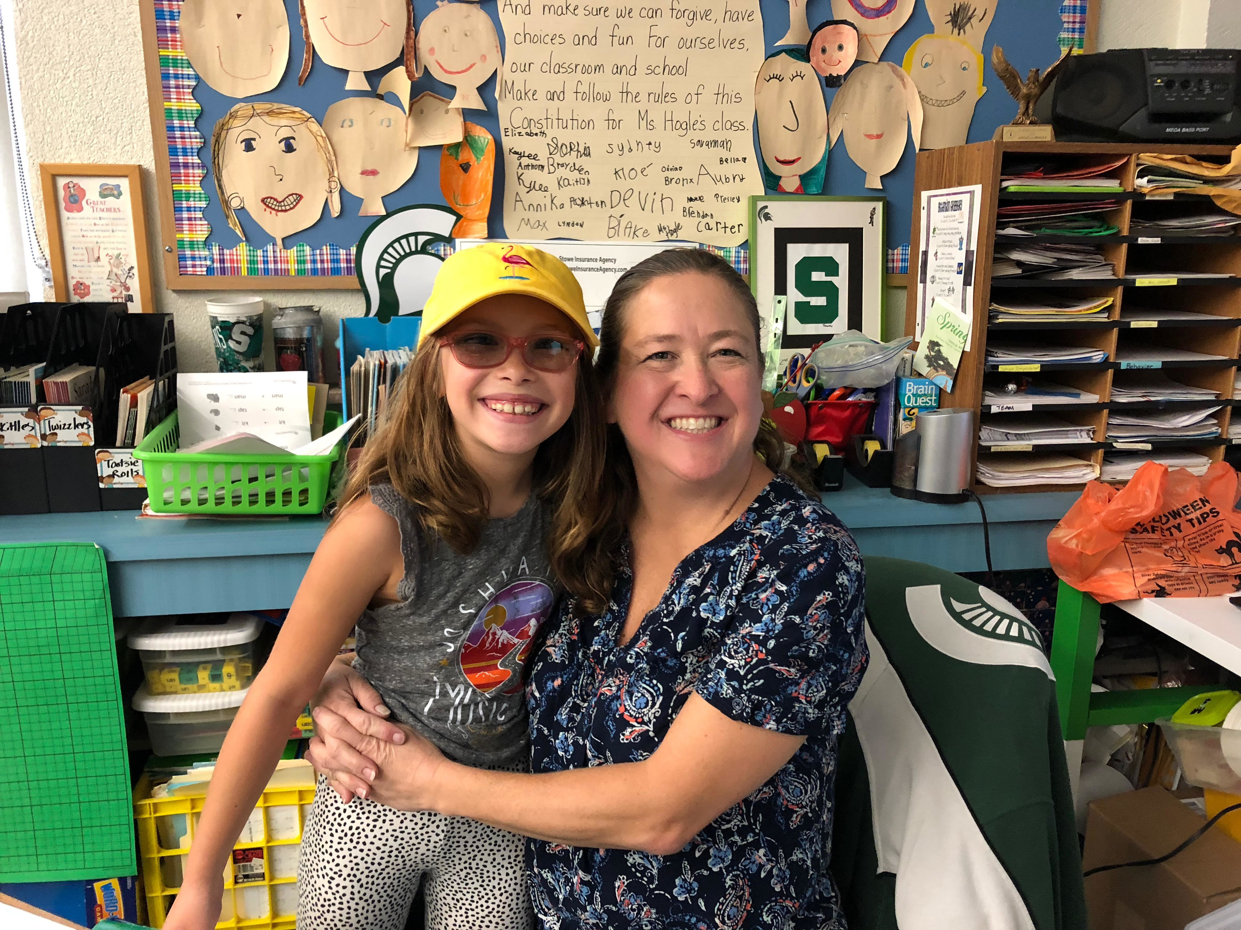 Mrs. Hogle and her student.
