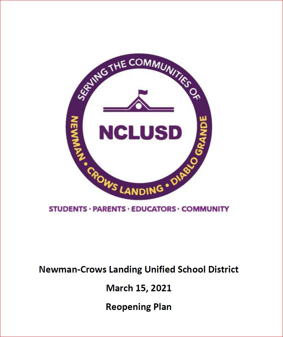 NCLUSD Reopening Plan-March 2021-link to document