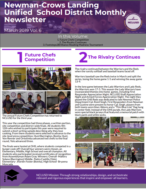 Newman-Crows Landing Unified School District Monthly Newsletter