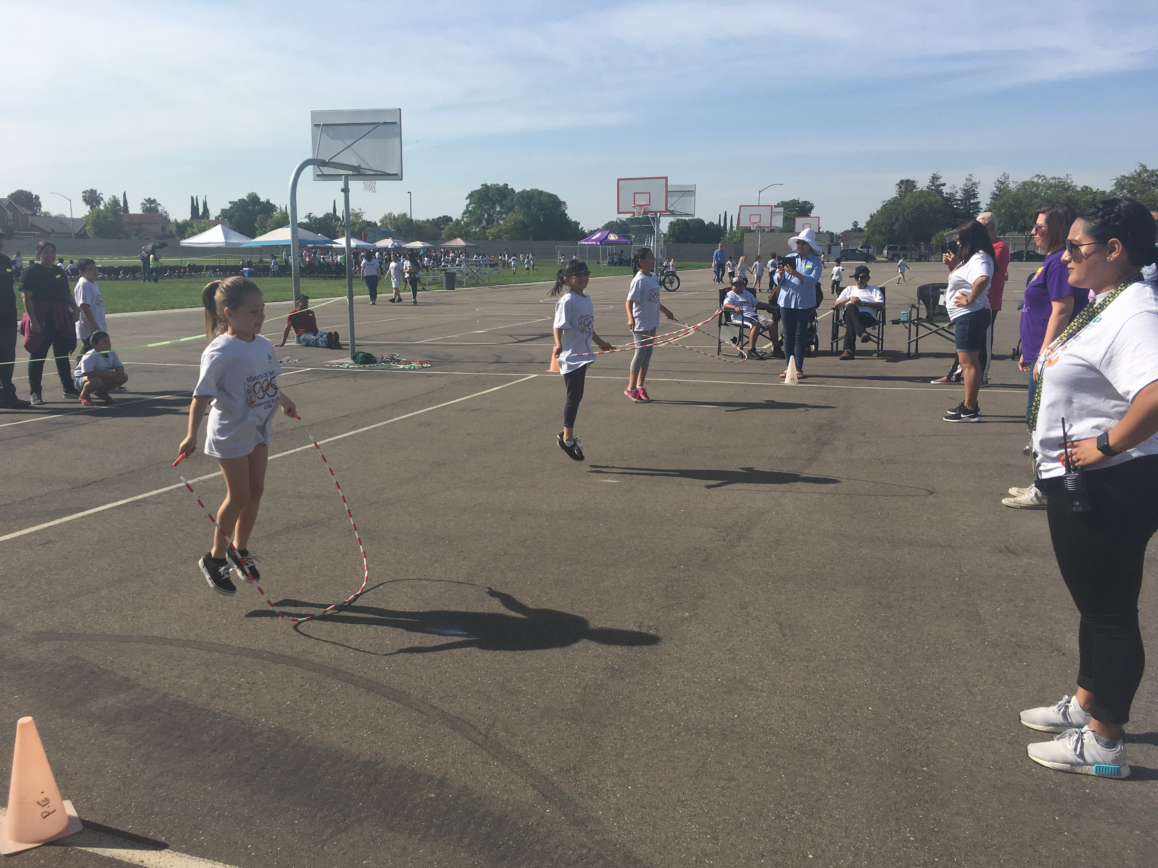 Photos of the School Olympics with the students and teachers participating