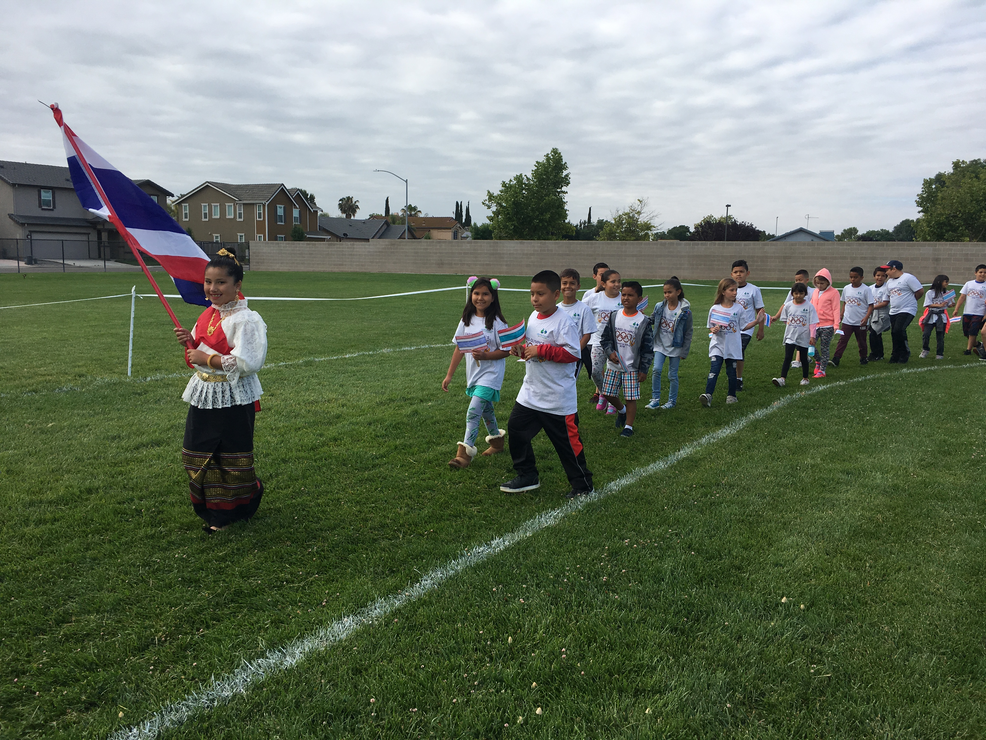 The students all enjoying different activities during their Mini-Olympics