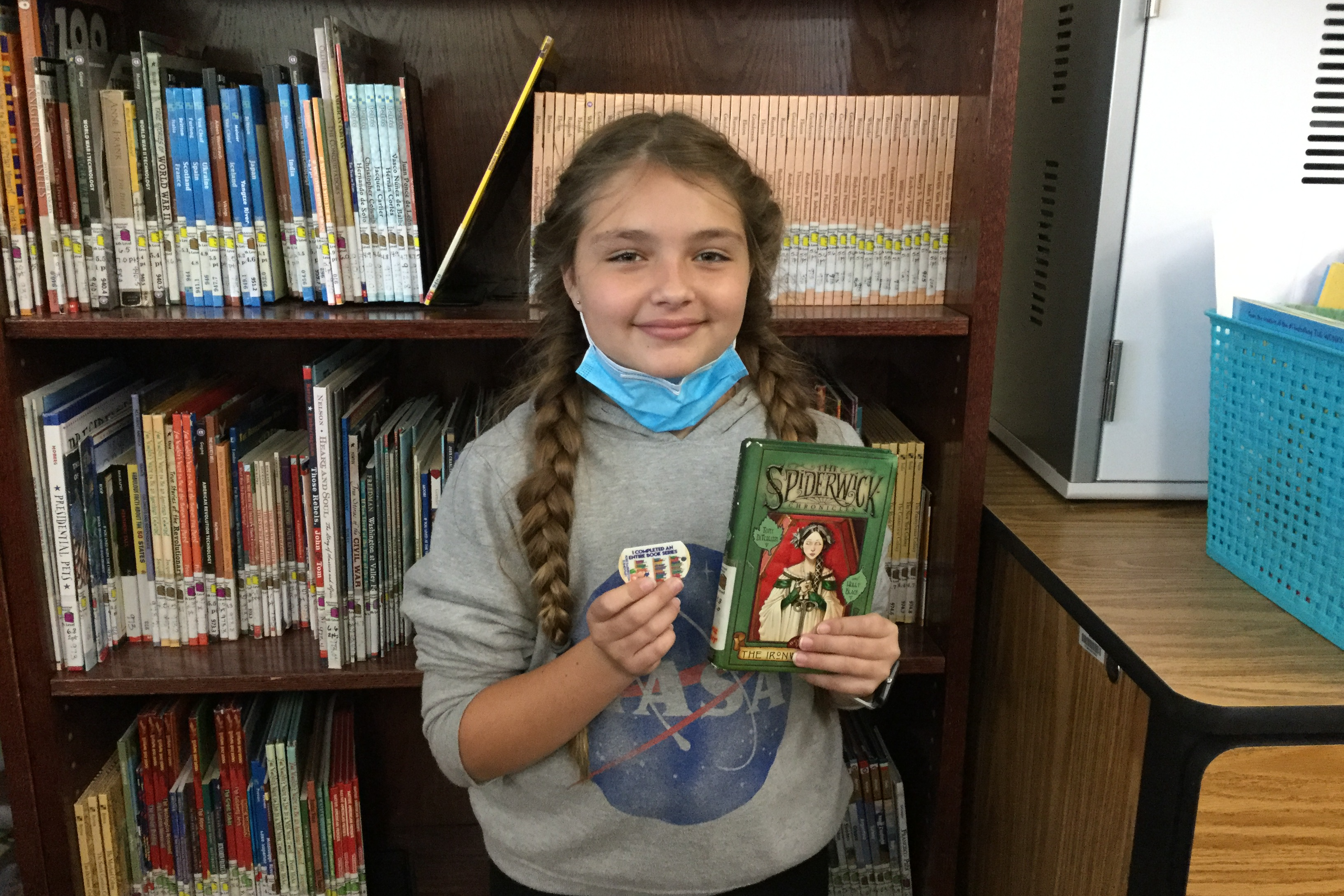 Student read a whole book series