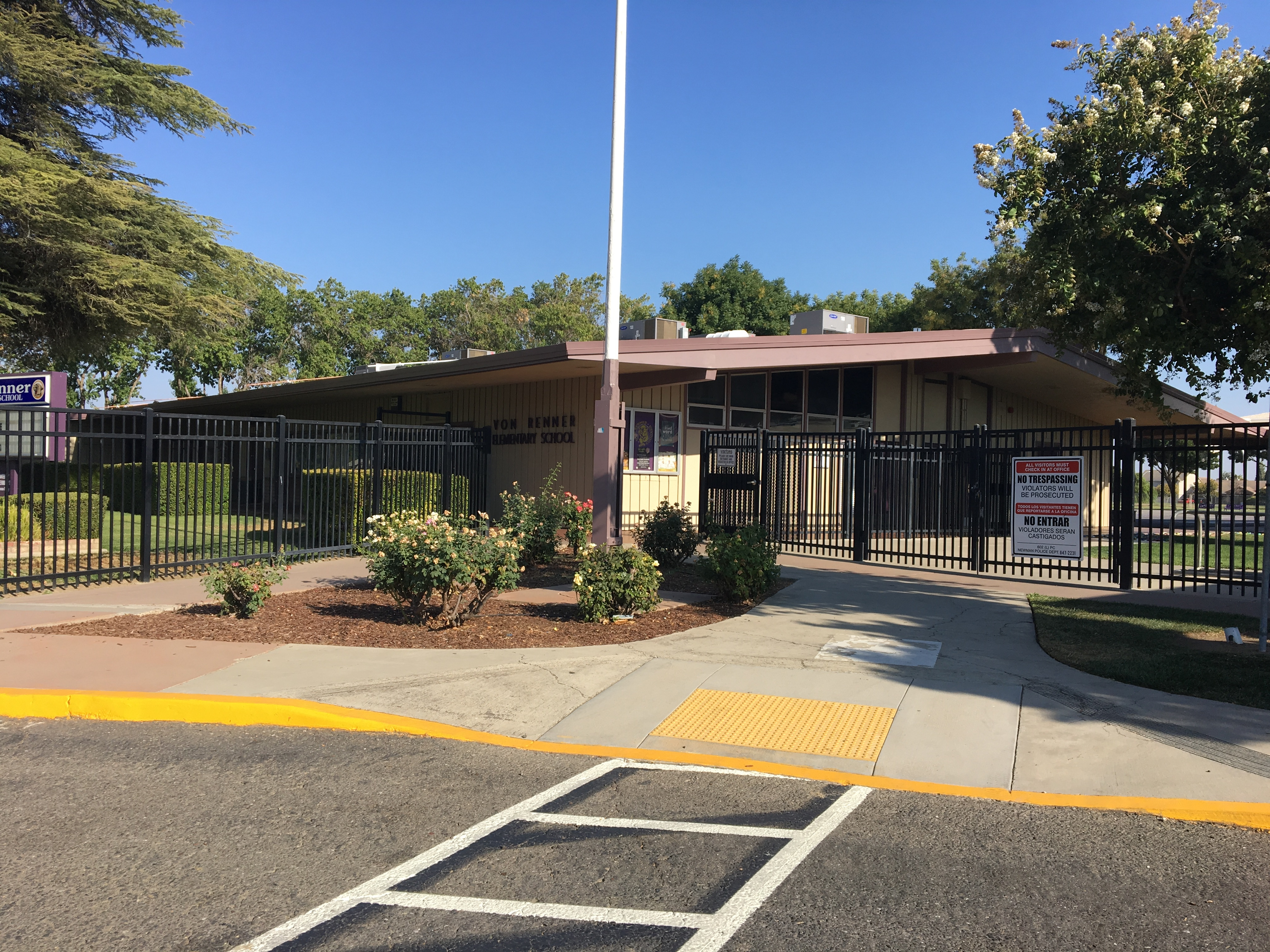 picture of the front of Von Renner Elementary