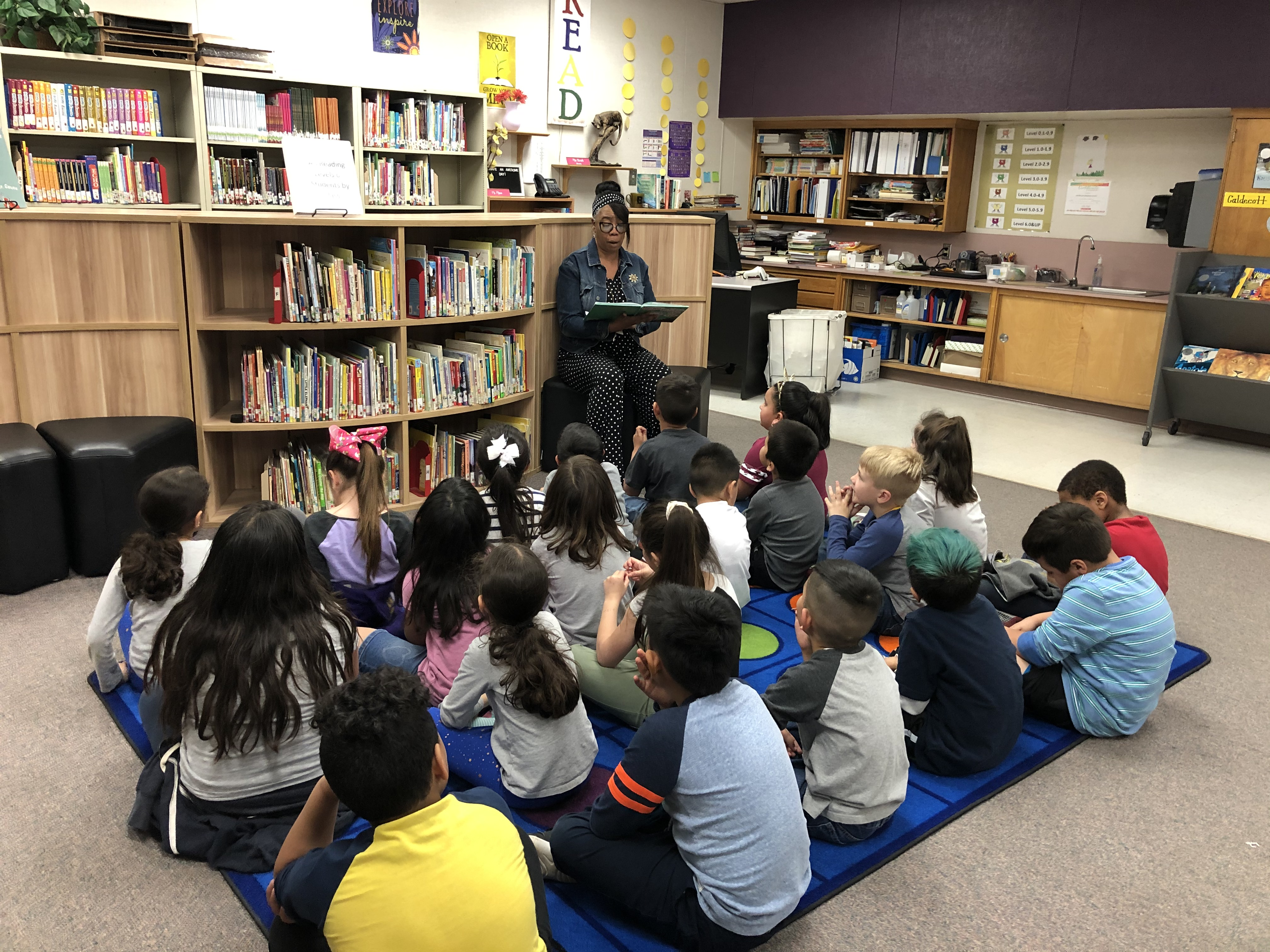Miss Brenda Reading to a Class: