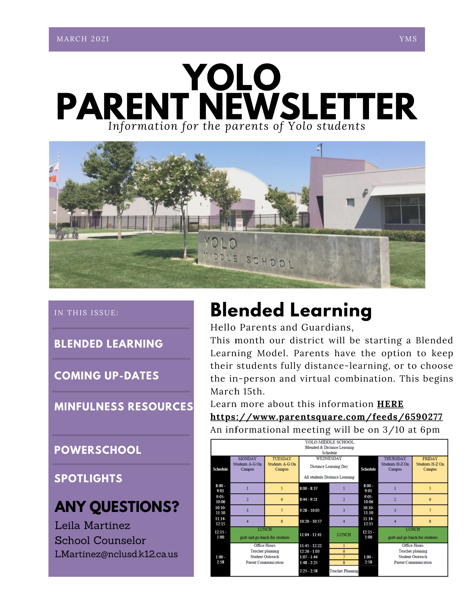 March 2021 Newsletter-Link to PDF