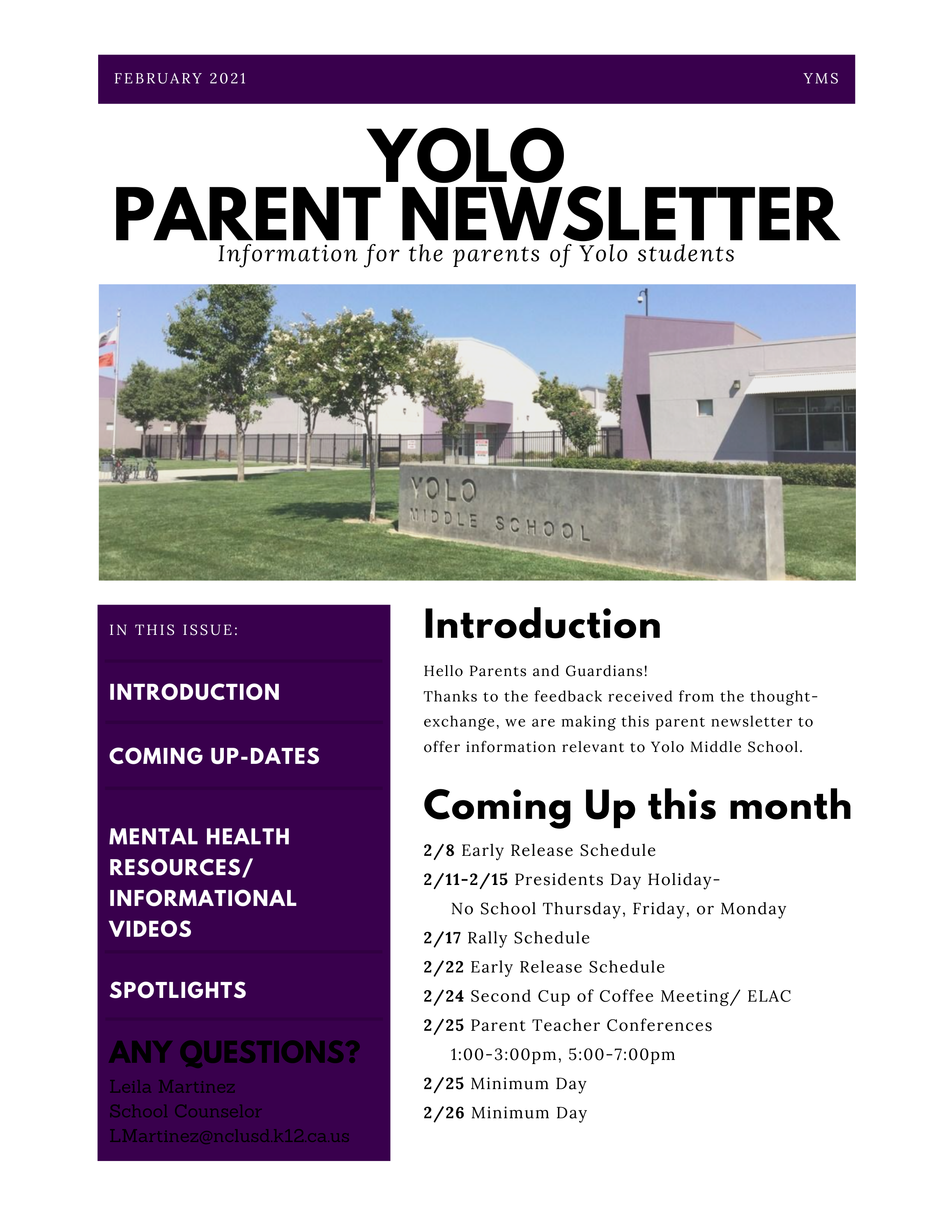 February 2021 Newsletter-Link to PDF