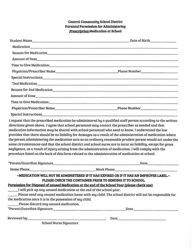 Preescription Medication Form