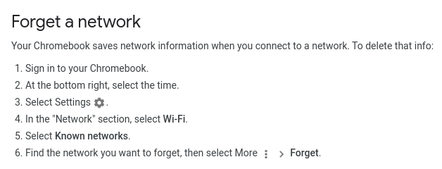 forget a network
