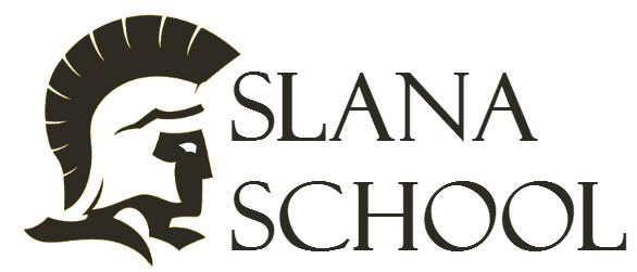 A trojan silhouette, the Slana School logo.
