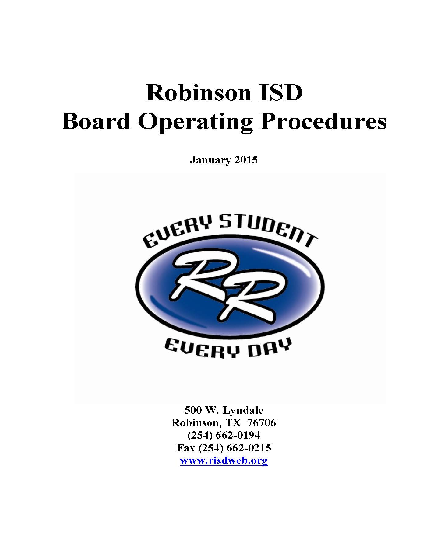 RISD Board Operating Procedures Page 1