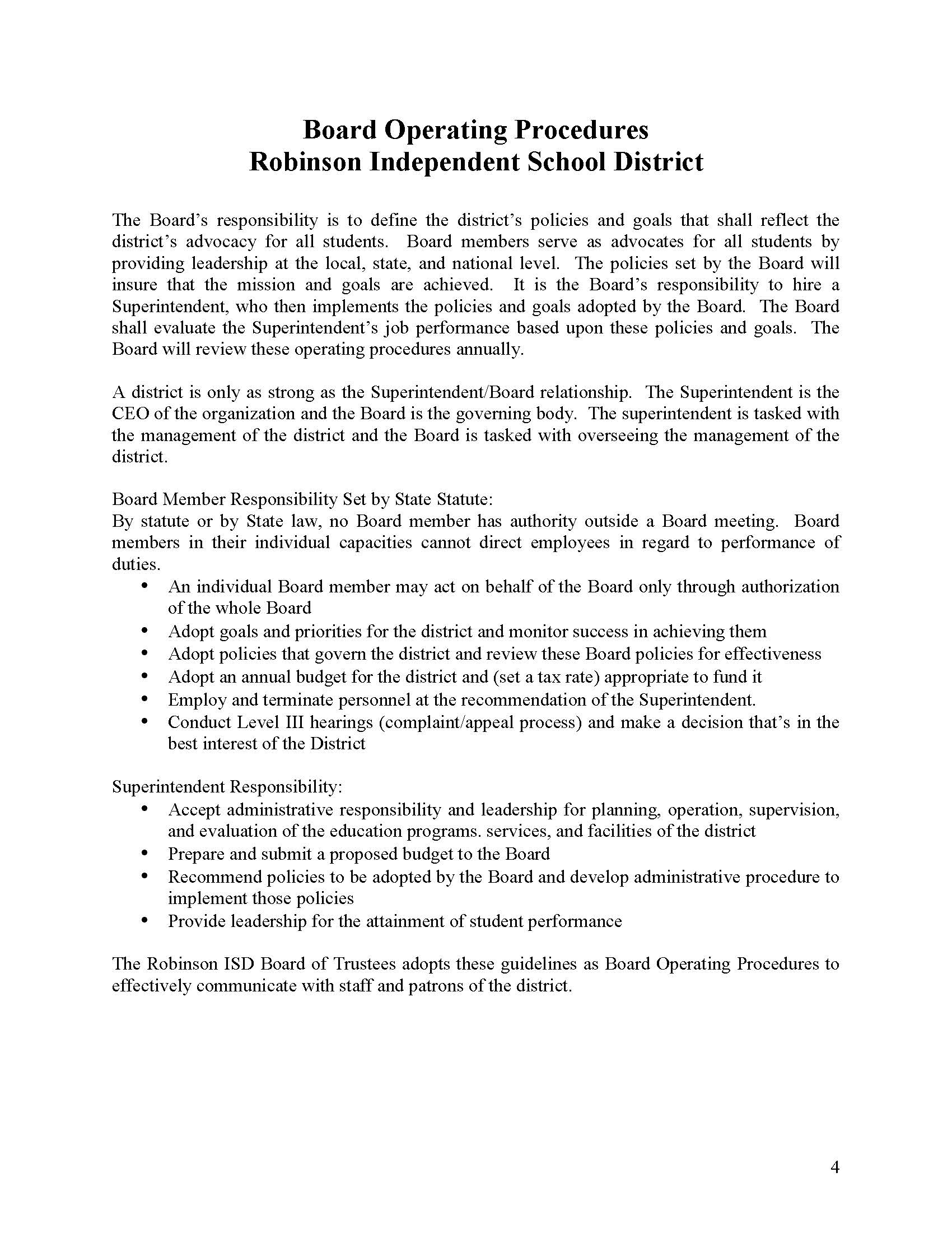 RISD Board Operating Procedures Page 4