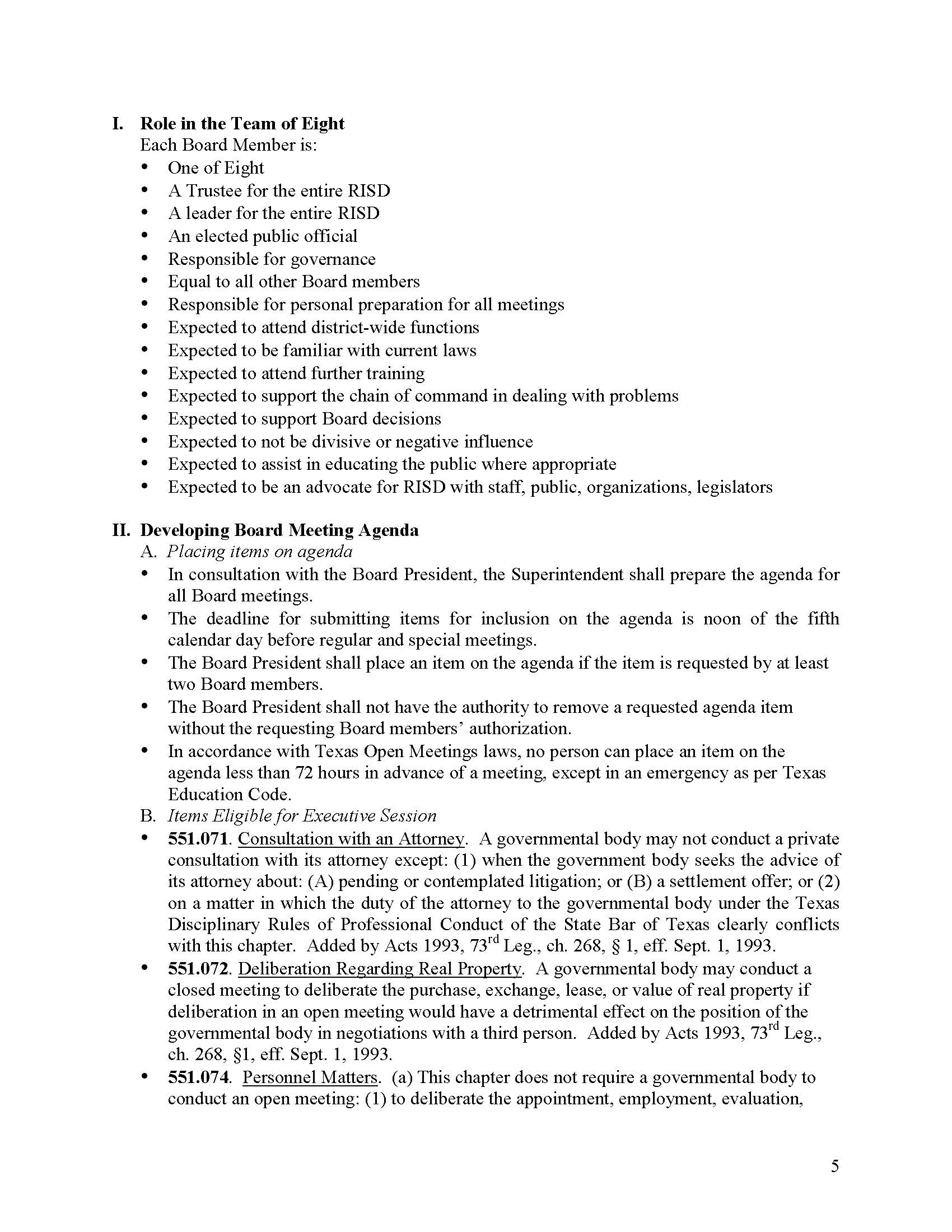 RISD Board Operating Procedures Page 5