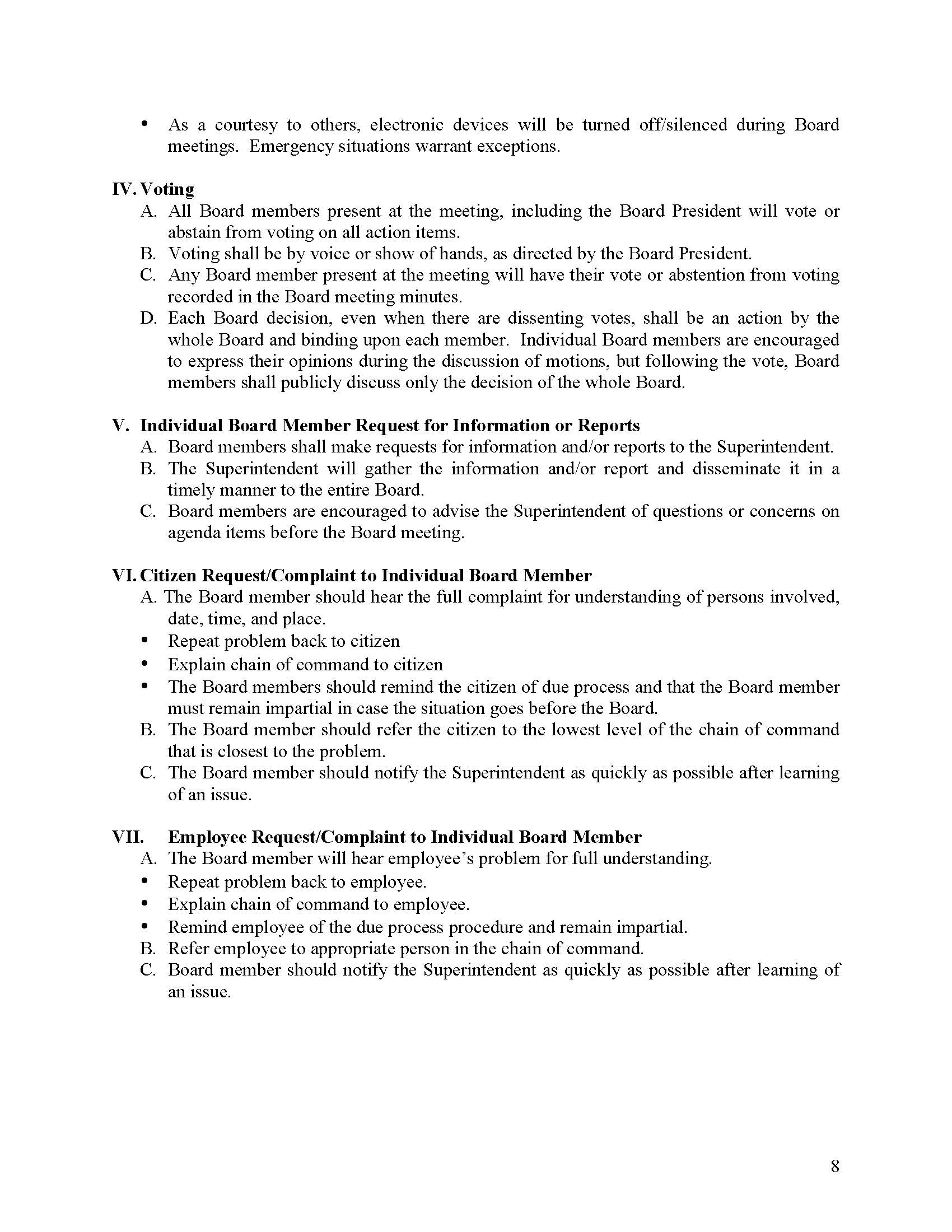 RISD Board Operating Procedures Page 8