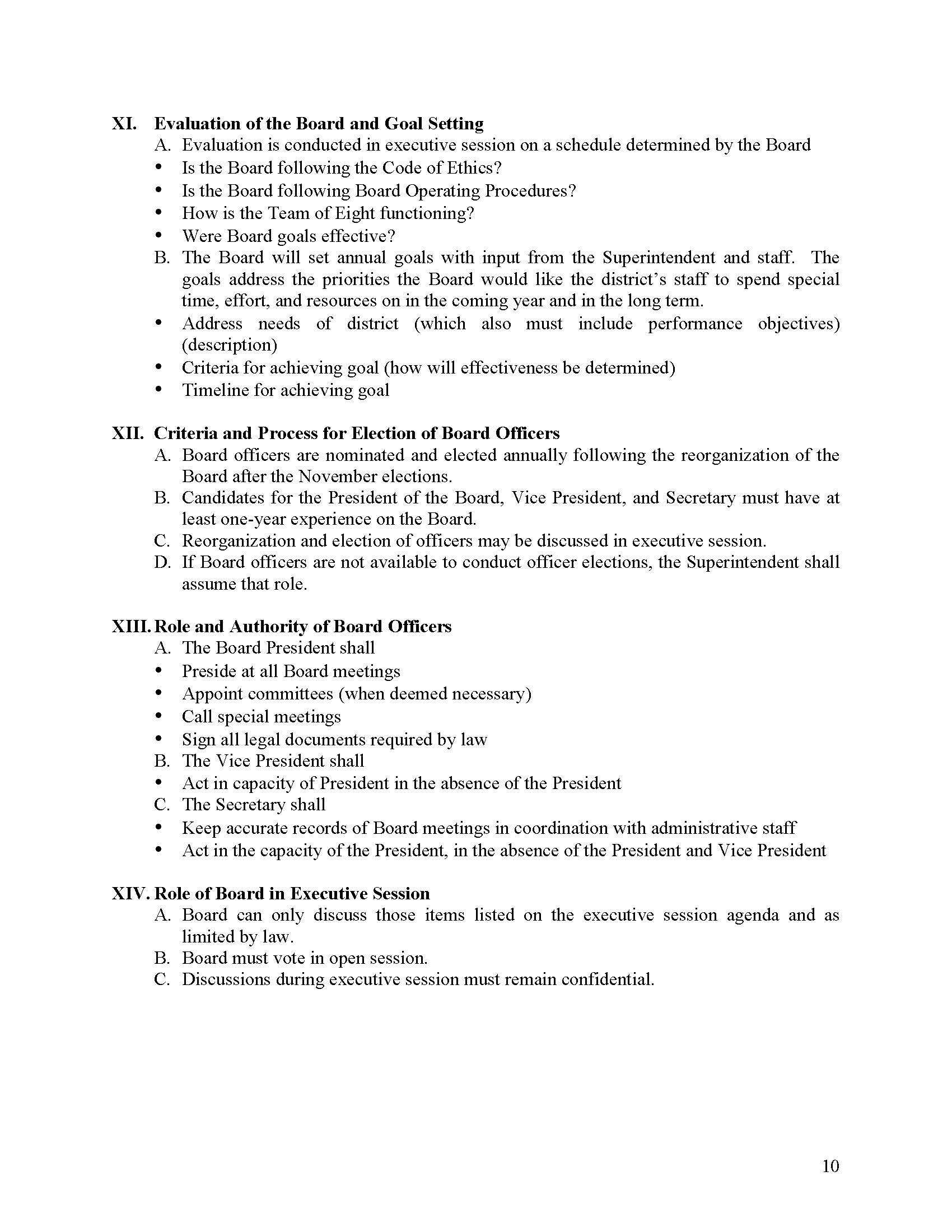 RISD Board Operating Procedures Page 10