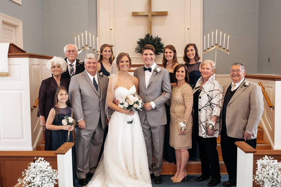 Hope family at a wedding