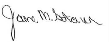 Jane M. Stone Signature