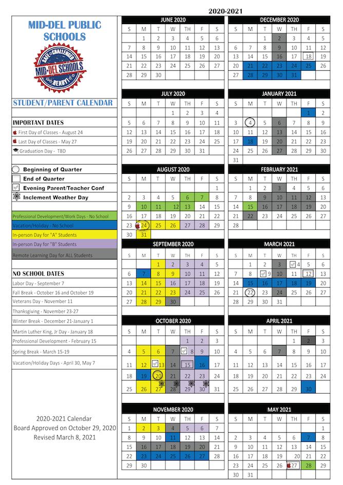 the full school calendar