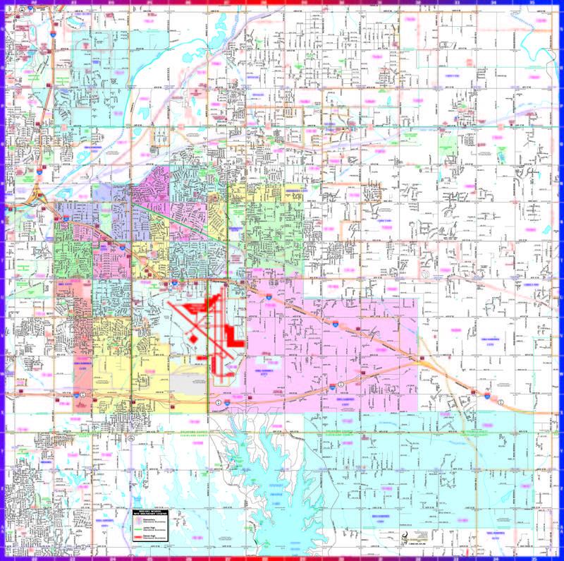 Mid-Del School Map
