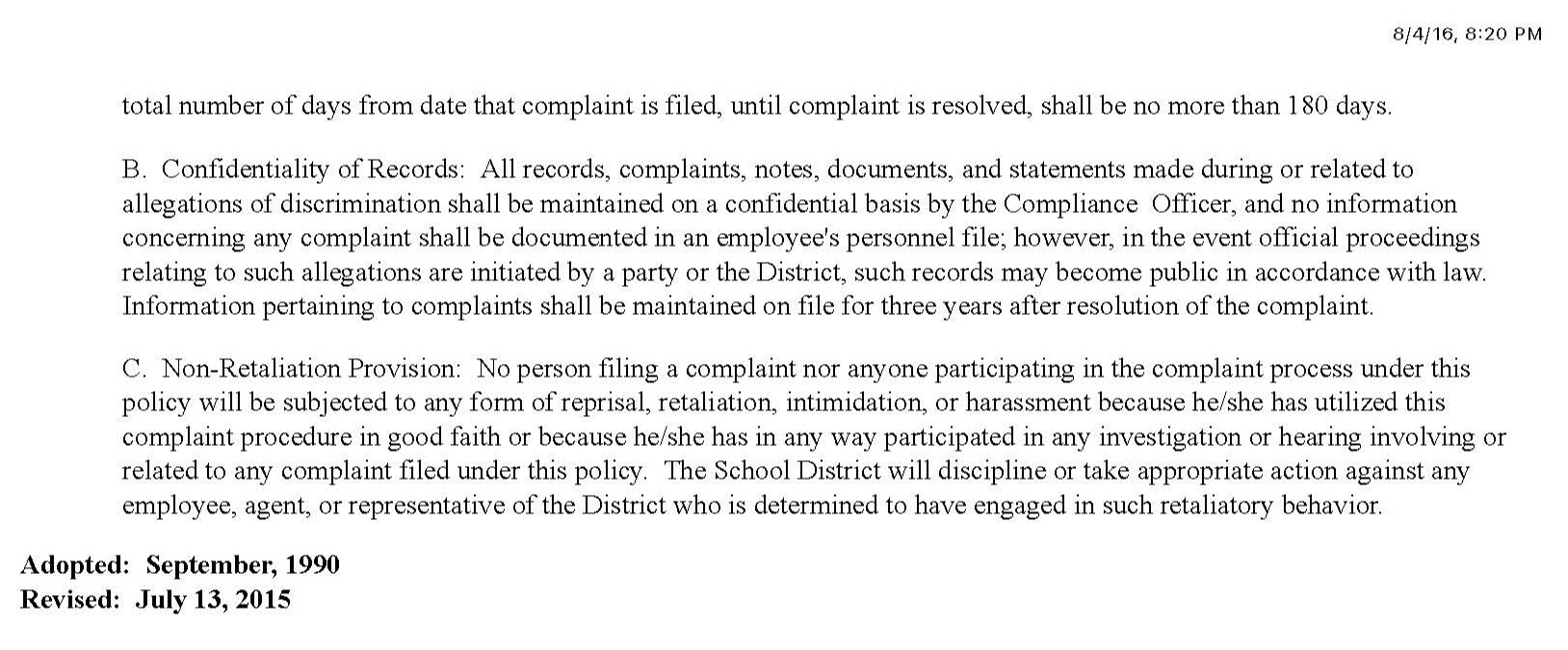 Page 3 of the Title Compliance
