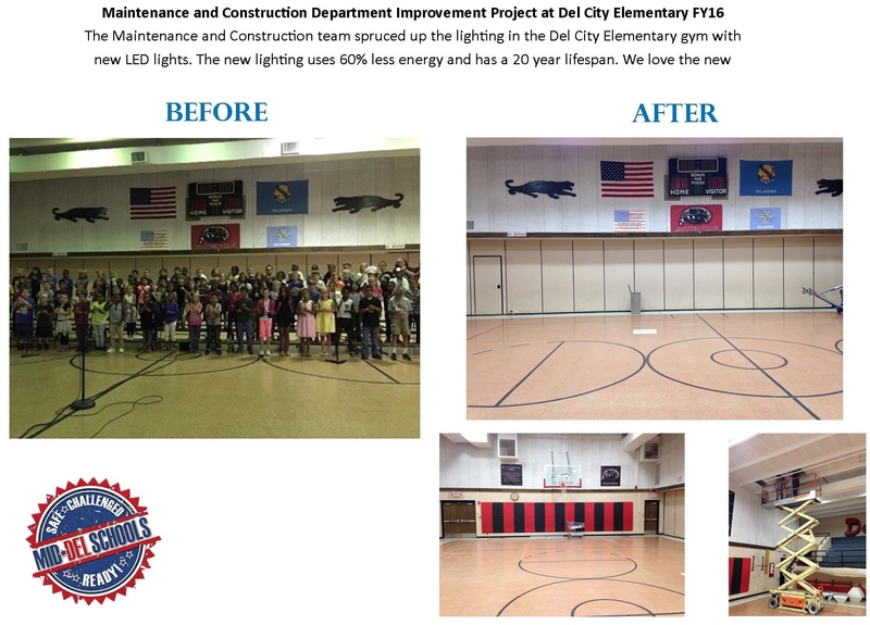 Before & After of the Schools Gym