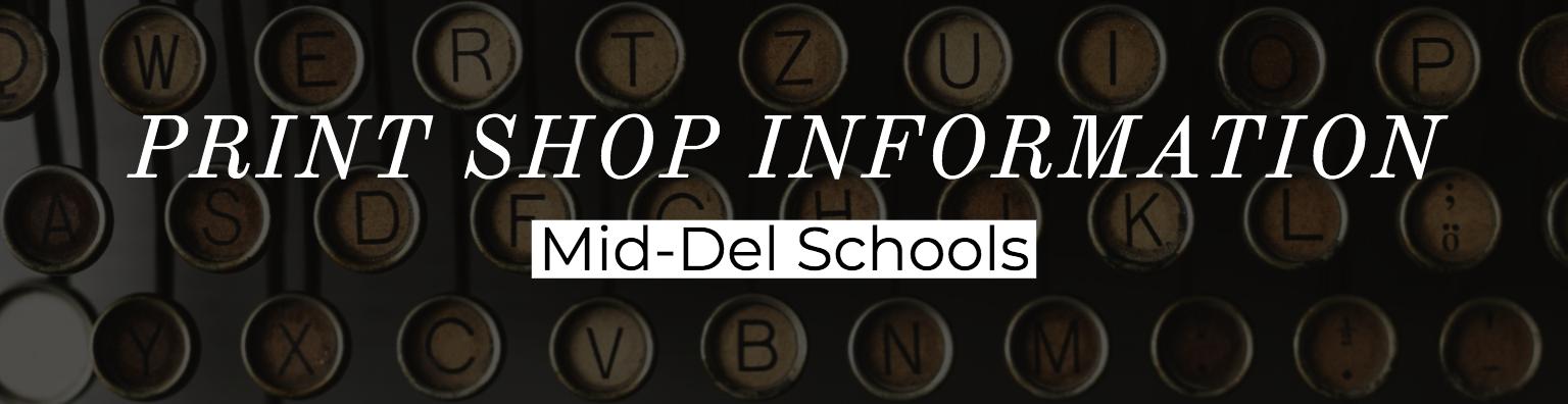 Print Shop Information Mid-Del Schools