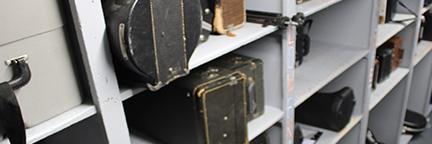 Band Instruments in Storage