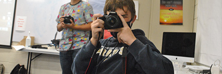 Student taking a picture
