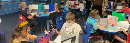2nd Grade students working