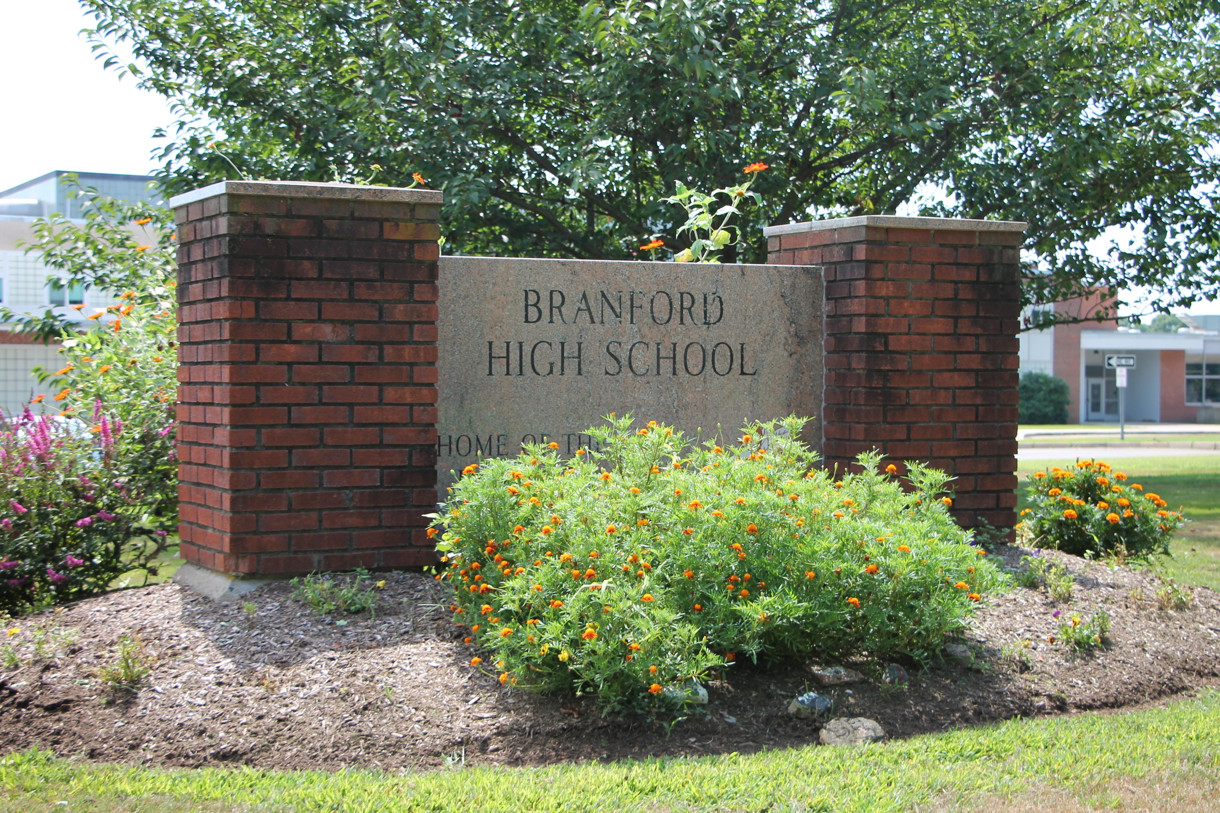 Branford High School Sign