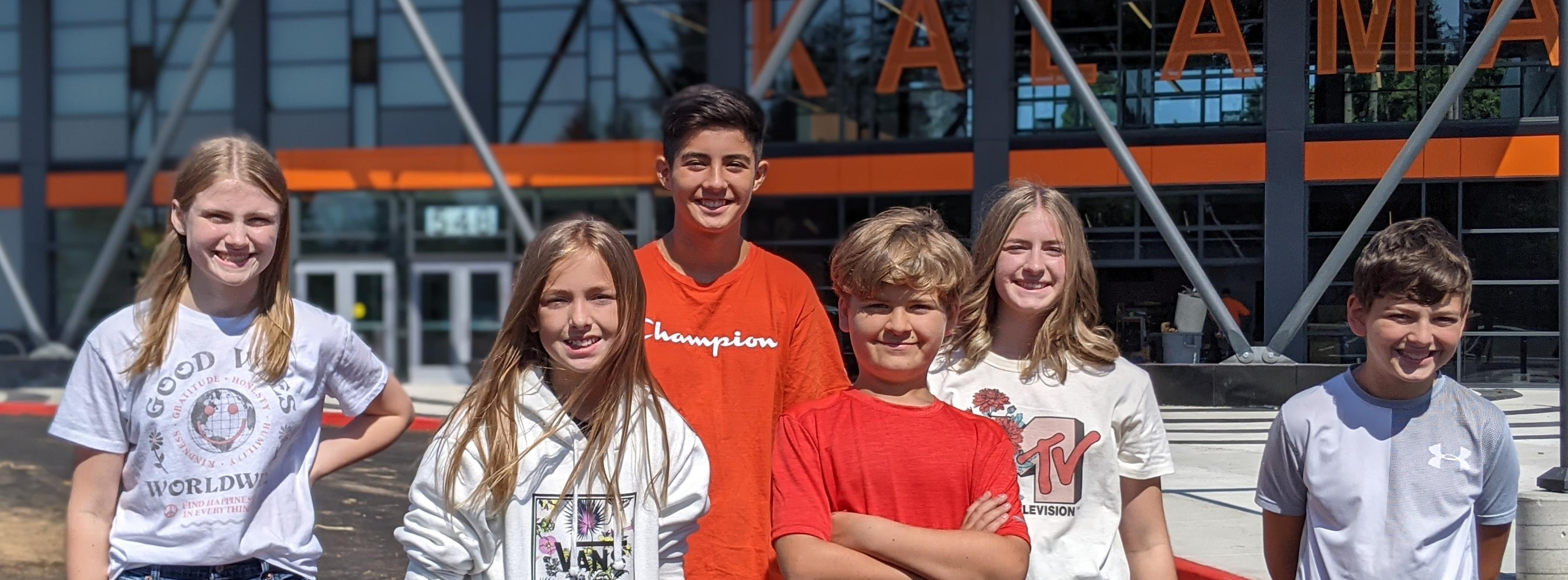 Kalama Middle School students