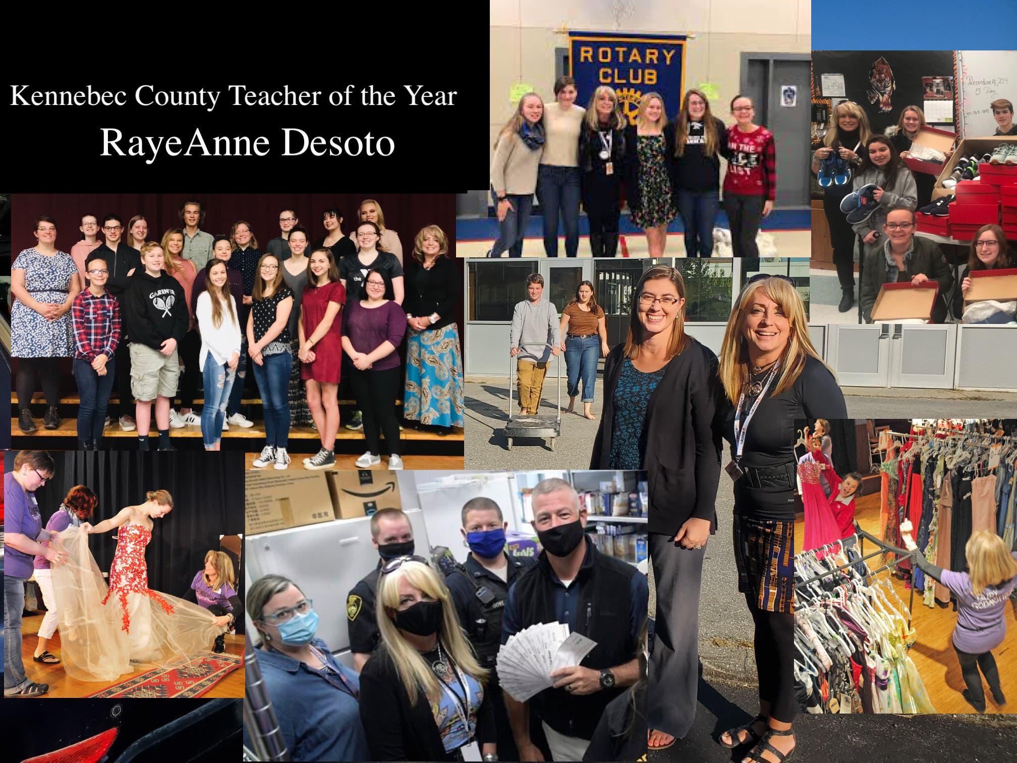 RayeAnne Desoto - Kennebec County Teacher of the Year!
