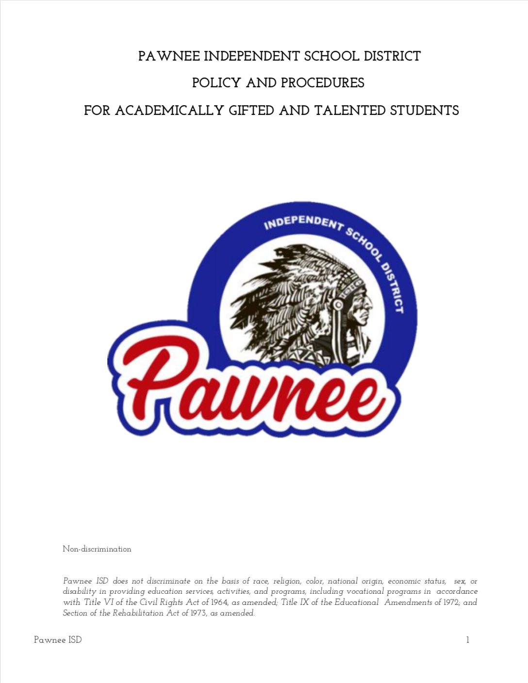 Gifted and Talented Pawnee