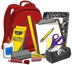 pile of school supplies