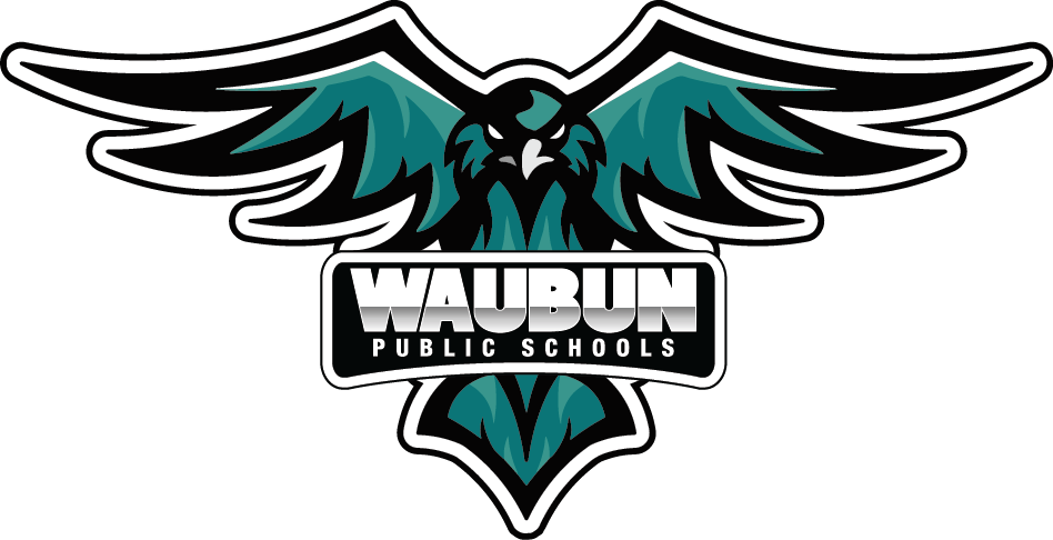 Waubun Public Schools School Logo Teal Thunderbird