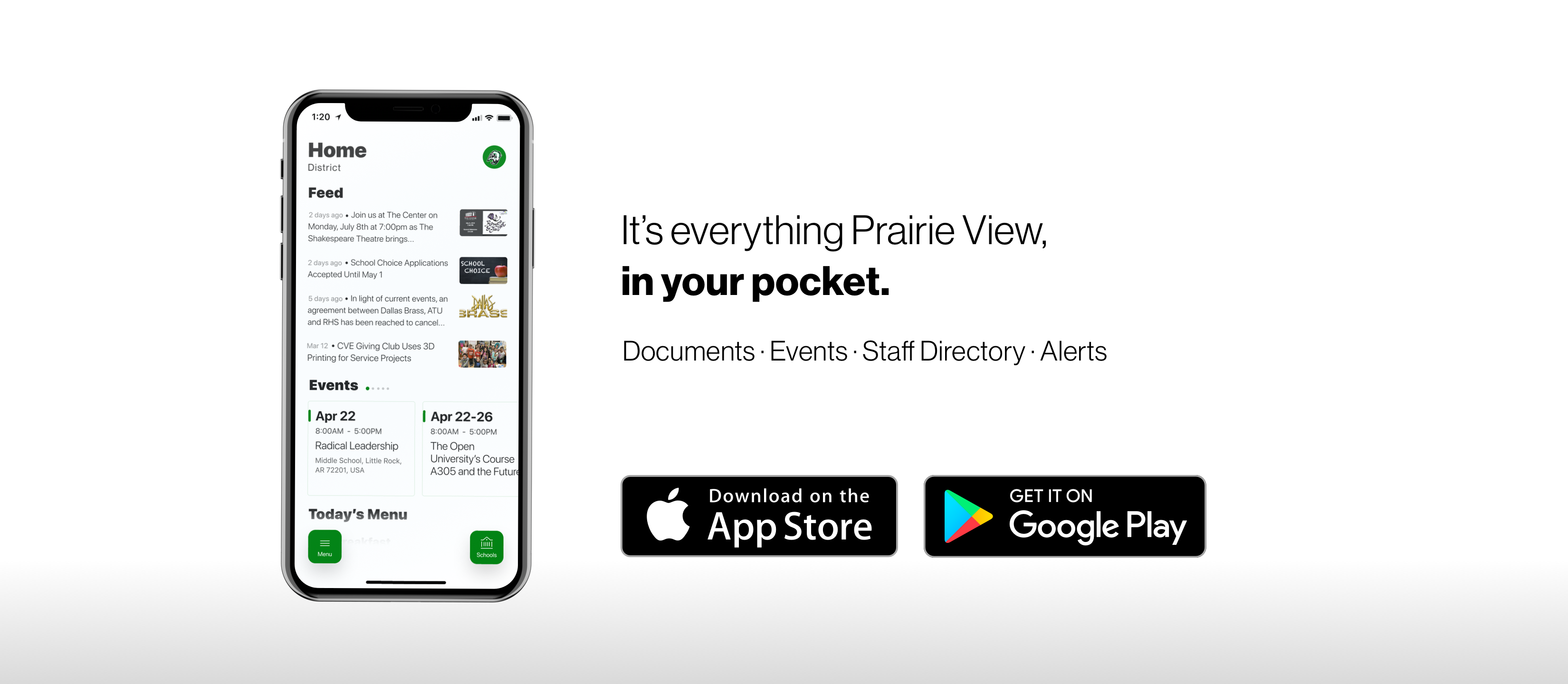 download the mobile app in Apple and Google Play stores
