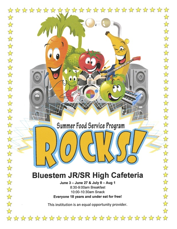 SUMMER FOOD SERVICE AT BLUESTEM JR/SR HIGH CAFETERIA FLYER