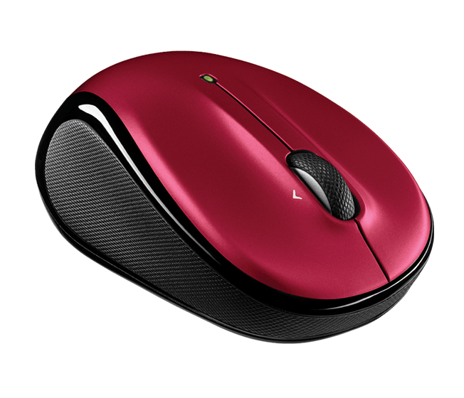 A photo of a wireless mouse.