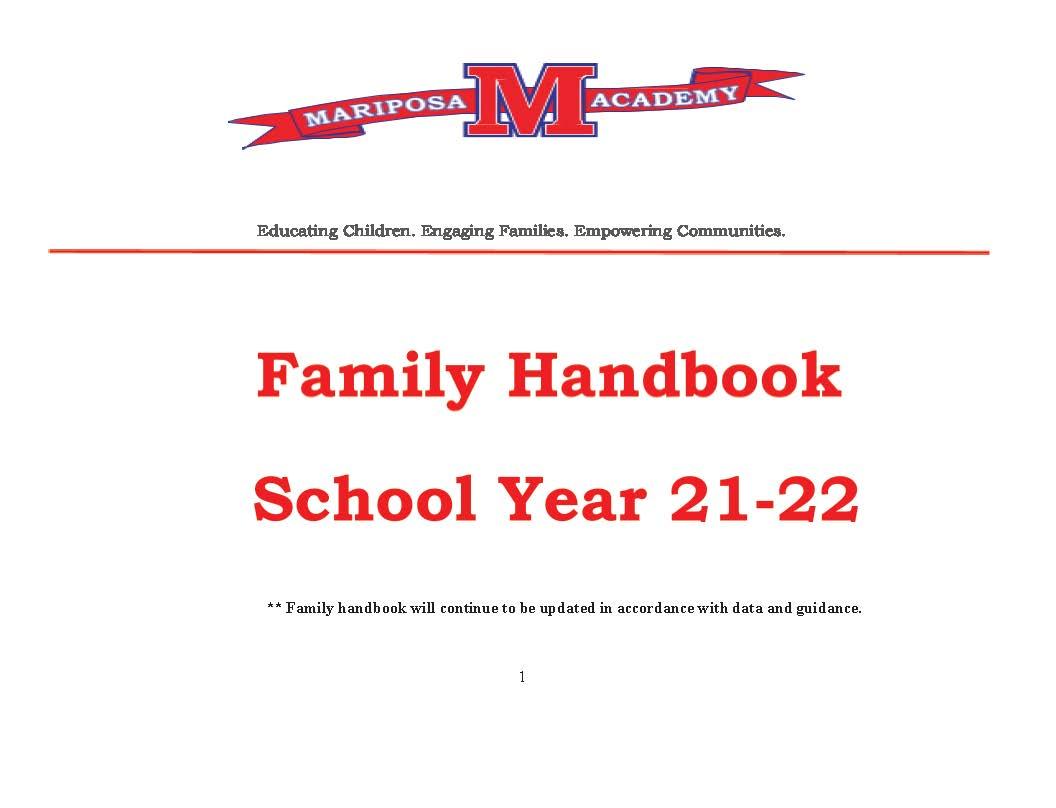 Family Handbook 21-22