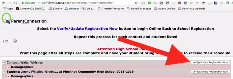 "Screenshot of ""Verify/Update Registration Now"""