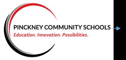 Pinckney Community Schools, Logo Text