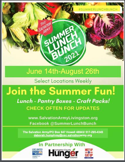 Summer Lunch Buddies information