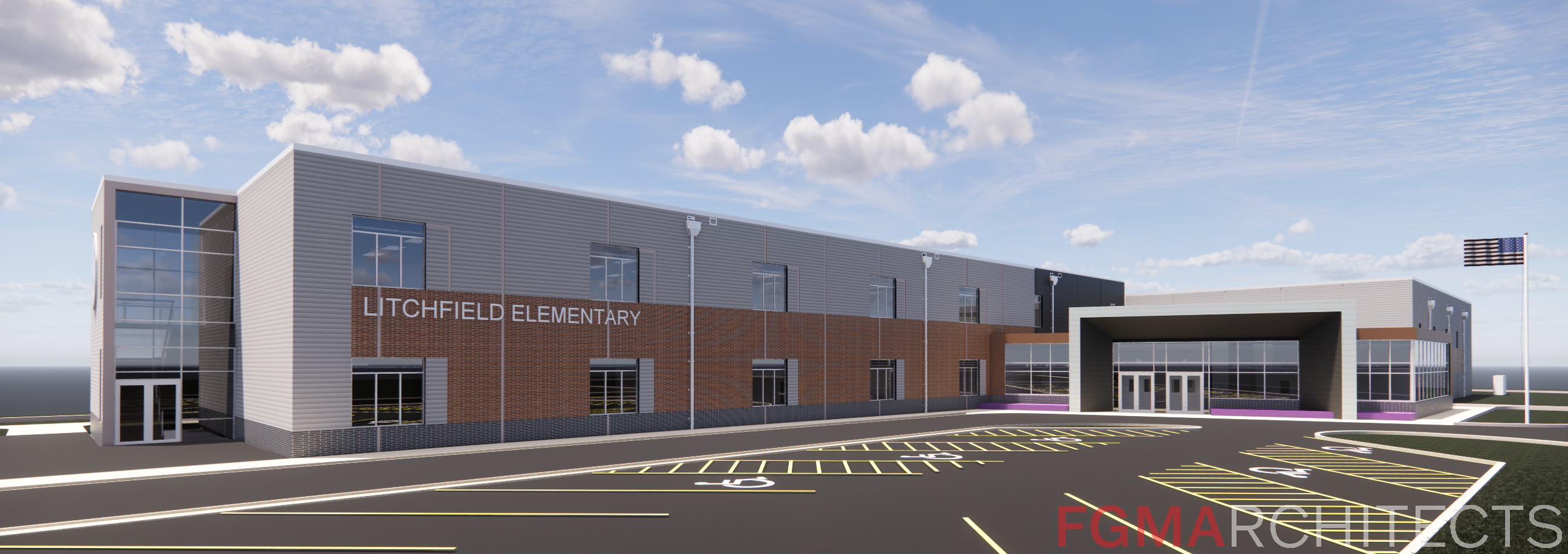 Rendering of new state street school project