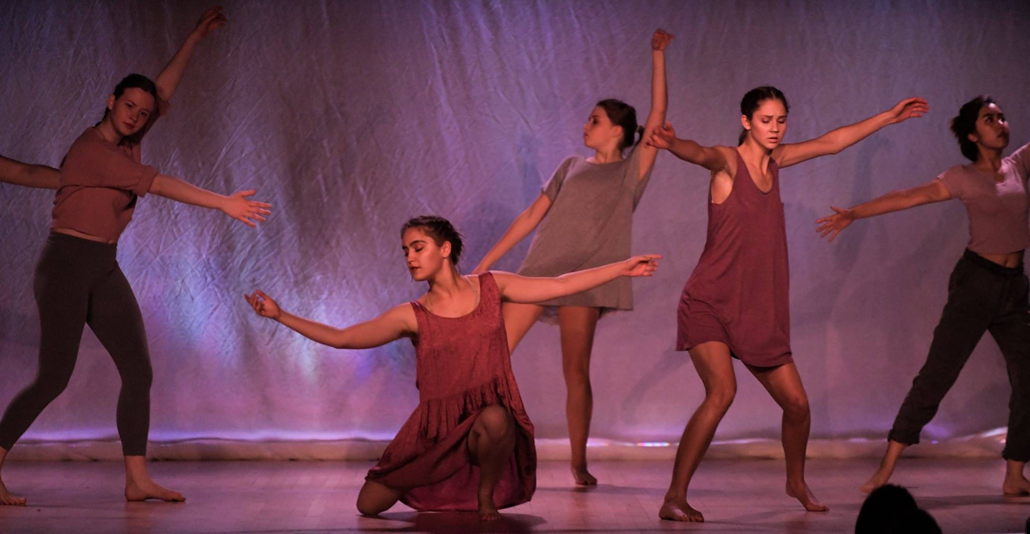 A contemporary dance performance in the theatre