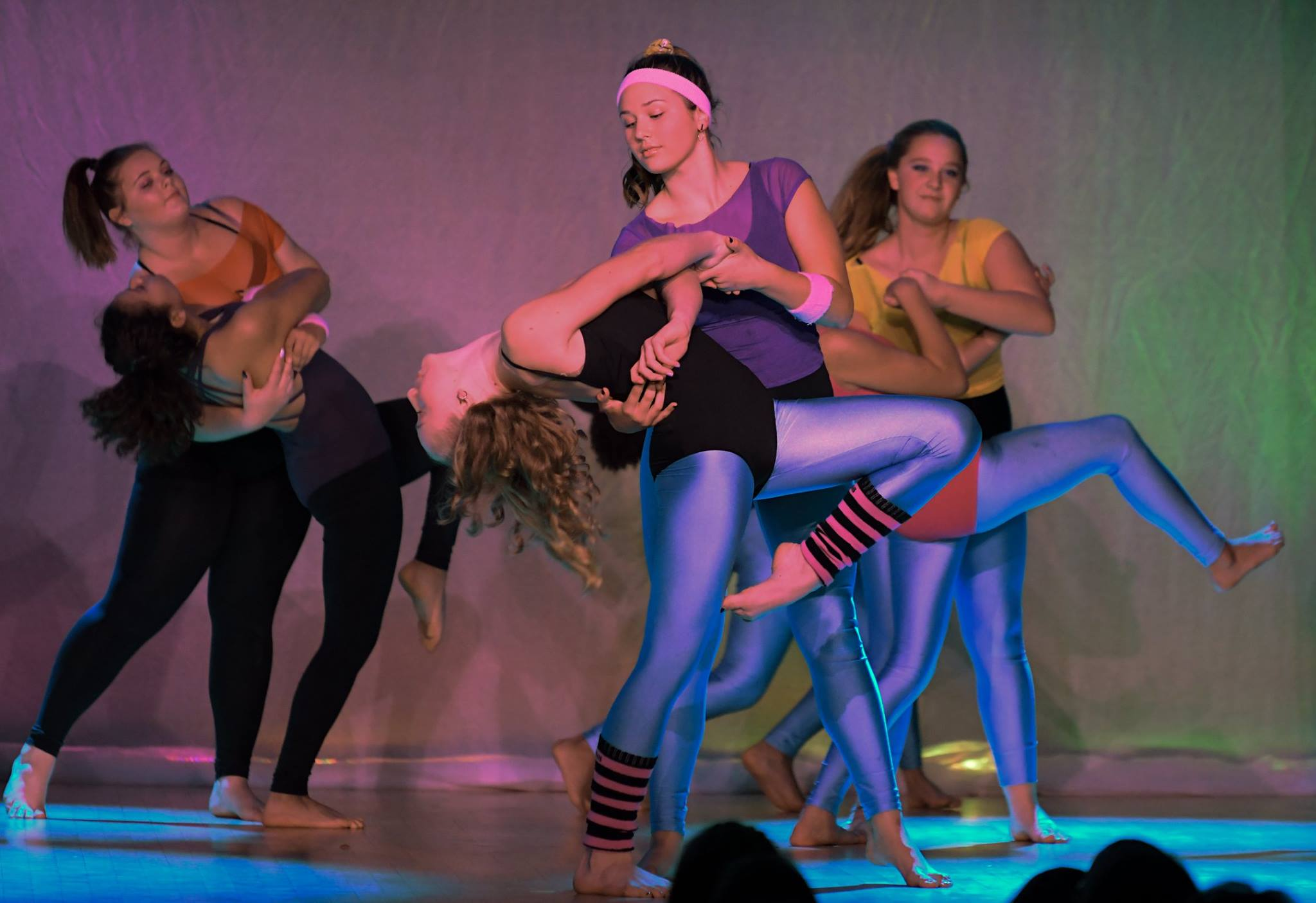 A performance done by the dance club, three pairs of girls dipping their partner into the floor and then helping them stand back up.