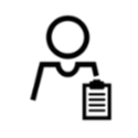 image of human figure with clipboard