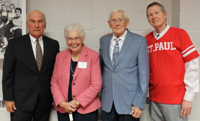 2019 SPH Hall of Fame Class - Chris Amato (Class of 1970), Pat and Jerry Hipp (Honorary Alumni and Class of 1950), Coach Mike Gottfried (Representing 1969 State Championship Team)
